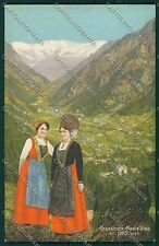Aosta Gressoney Monte Rosa Costumi cartolina QQ5898