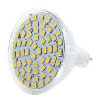 5X (MR16 60 LED bianco caldo lampada luce 3528 SMD12V 2.5W O7K6 J1T0