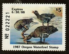 Oregon Or4 Or04 1987 White-Fronted Goose Free shipping in the Usa!
