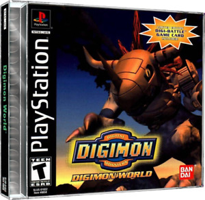 Digimon World PS1 Custom Replacement Case NO DISC - FAST SHIPPING!!