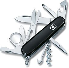 "Victorinox Swiss Army Explorer Knife 16 Functions Black Handle 91mm, 3 ½"" Closed"