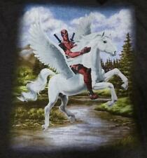 Marvel Comics Deadpool Riding Unicorn Maximum Effort Graphic T-Shirt