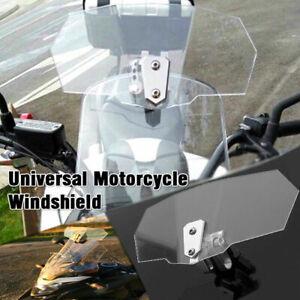 Motorcycle Windshield Clip On Extension Spoiler Adjustable Wind Deflector
