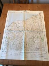 """HUGE 1967 RAF MINISTRY OF DEFENCE """"CARDIGAN"""" (35.5"""" x 29.5"""") CHART MAP"""