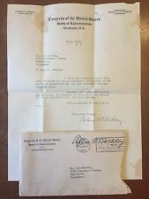 Vtg US Representative Congress ALBEN W. BARKLEY Army Autograph LETTER SIGNED