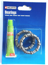 Weldtite Cycle-Bicycle-Bike Caged Bottom Bracket-Headset Bearings With Grease