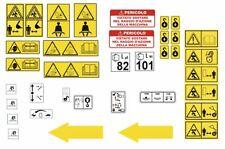 decalcomanie adesive avvertenze sicurezza bobcat