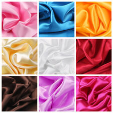 2/5 Meters Silky Satin Fabric High Dense Crafts Wedding Decor Dress 150cm Wide