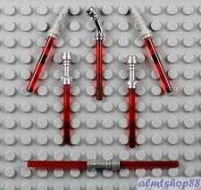 LEGO Star Wars - 6x Sith Red Lightsaber Lot - Darth Vader Maul Dooku Ventress