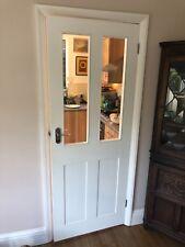 white half glazed internal door