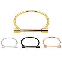 Fashion Shackle Screw Cuff Bracelet Stainless Steel Bracelets & Bangles Rose Q3F