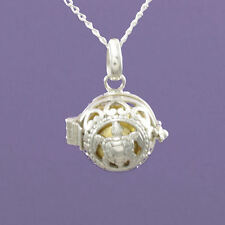 """925 Sterling Silver """" Angel Caller Turtle"""" Opening 18"""" / 20"""" Pendant A983"""