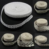5/10Yd Cotton Crochet Lace Trim Wedding Bridal Dress Belt DIY Decor Sewing Craft