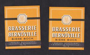 2  Ancienne  étiquette  Alcool  France BN116796 Bière Brasserie Bernoville