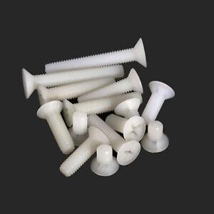 Pozidriv Countersunk Screws Pozi Bolts Withe M2.5 M3 M4 M5 M6 M8 Plastic