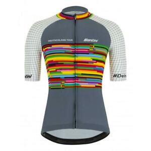 2021 Deutschland Tour Farbe Jersey Made in Italy by Santini
