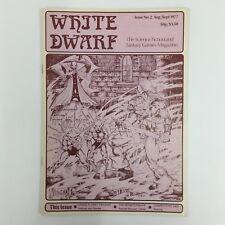 WHITE DWARF MAGAZINE ISSUE 2 FIRST PRINT 1977 GAMES WORKSHOP WARHAMMER D&D TSR