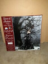 Queen Of Shadows by Nene Thomas 1000-Piece Panoramic Puzzle complete
