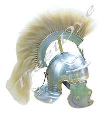 Roman Gallic Helmet /  nechural Plume - Centurion front to back