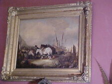Antique Oil Landscape w/Figures Student Wm. Shayer,  British (1787-1879)