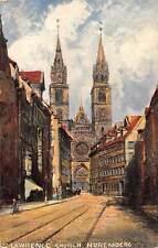 Germany Nuremberg, St. Lawrence' Church, railroad, railway, kirche
