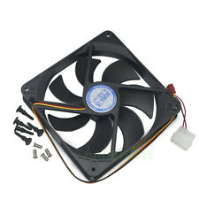 140mm x25mm 3pin &4pin Cooling Fan For PC Case CPU GPU Card Radiator Replacement