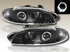 1997 1998 1999 Mitsubishi Eclipse Projector Headlights Black One Halo New