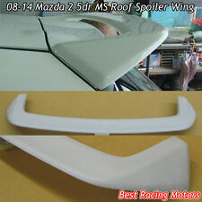 MS Style Rear Roof Spoiler Wing (FRP) Fits 08-14 Mazda 2 5dr