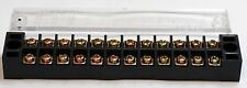 12 Position 15A 600V Terminal Block w/Cover RoHs Free #Tb-1512