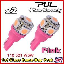 Sidelight Interior Bulb Capless Wedge T10 501 W5W 168 194 LED PINK/PURPLE 12v