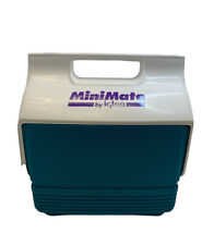 Vintage Mini Mate Cooler By Igloo Made Is USA Retro Purple Teal Push Button Lock
