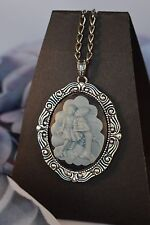 """YOUNG LOVE"" PRETTY ANTIQUE STYLE CAMEO    [BLUE]  [13/1/2017]"