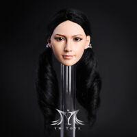 1/6 Female Head Sculpt Black Hair For 12'' Female Doll PHICEN Hot Toys Verycool