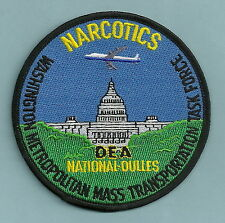 DEA DULLES WASHINGTON METRO TRANSPORTATION NARCOTICS TASK FORCE POLICE PATCH