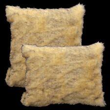 Fm601a Beige Black Thick Long Faux Fur Cushion Cover/Pillow Case*Custom Size*