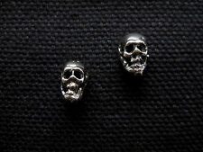 SKULL .925 Sterling Silver Stud Earrings - FREE SHIPPING & Gift Box!!