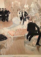 Georges.Antoine.Rochegrosse grav. couleurs JOURNEE MONDAINE Paris Illustré 1885