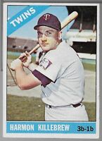 1966 Topps #120, Harmon Killebrew, Minnesota Twins, Hall of Fame (HOF) Excellent