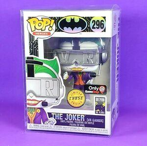 Funko Joker VR Gamer Chase POP Figure GameStop Exclusive in New Protector Batman