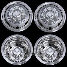 """4 DODGE 16"""" Dual Wheel Simulators Dually 8 Lug Rim Skins Liners Hub Covers RV 8X"""