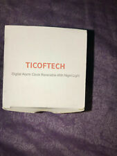 New Ticoftech Digital Alarm Clock Reversible with Night Light Pink