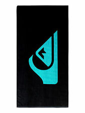 QUIKSILVER MENS TOWEL.CHILLING LARGE BLACK BEACH COTTON CHANGING 7S/3456/KVJO