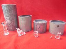 Swarovski Crystal Lot - 4 Cat Figurines Original Box 7634 Nr070/Nr046 7659 Nr031