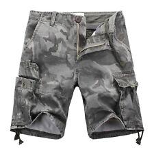 Mens FOXJEANS Elton Causal Camo Military Men's Army Cargo Work Shorts Size 36