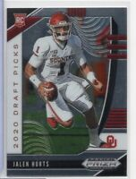 Jalen Hurts Oklahoma RC 2020 Panini Prizm Draft Picks 129 122920ATCD
