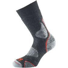 1000 Mile Sportswear Model 3 Season Walk Sock Merino Wool Walking Mid Weight Charcoal Medium UK 6 to 8.5