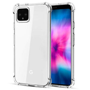 For Google Pixel 4A Clear Silicone TPU Shockproof Crystal Case Cover Protector u
