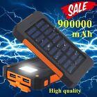 Portable Solar Power Bank 900000mAh Universal 2USB External Battery Charger USA