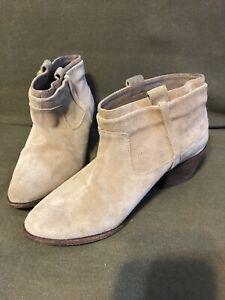 Joie Suede Sz 7M  Tan Ankle Boots