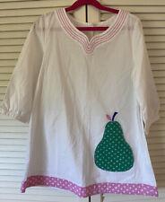 Mini Boden-Girls Pear Applique Swim Coverup Dress -Size 9-10